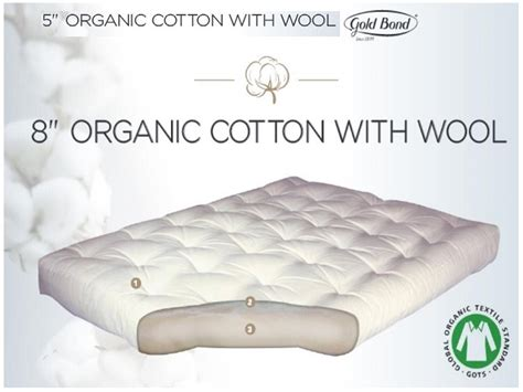 100 cotton futon mattress pure organic cotton with 5 inch or 8 inch gold bond