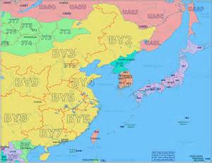 east asian prefix map