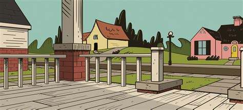 a house with big front porch background cartoon clipart vector toons justin sadur loud house style