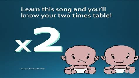 time table 2 song the two times table song youtube