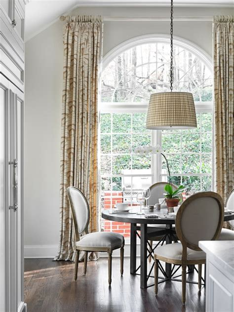 Palladium Windows Window Treatments Designs Gingham Drum Chandelier Traditional Dining Room Allison Hennessy