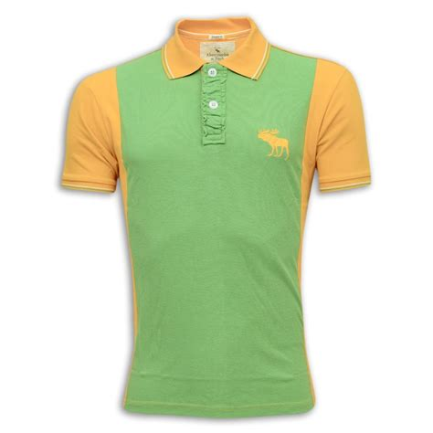 Polo Shirt Abercrombie abercrombie fitch polo shirt mh30p sea green orange