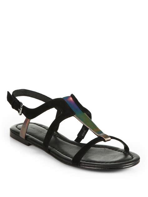 sigerson morrison kimora strappy flat iridescent sandals