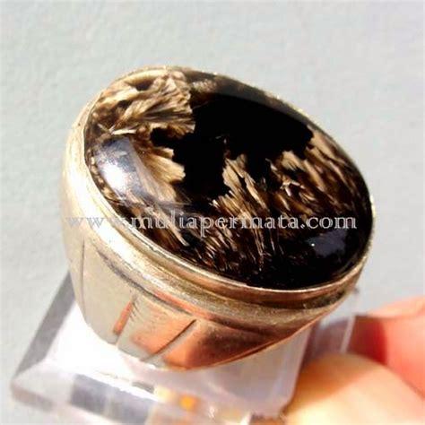 Liontin Bulu Macan Merah Lumajang cincin akik bulu macan batu mulia batu permata batu