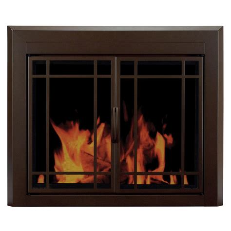 Fireplace Der Cl Home Depot by Pleasant Hearth Carlisle Large Black Cabinet Style Glass