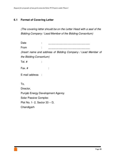 Request Letter Format For Connection Rfp For Solar Power Plant In Punjab