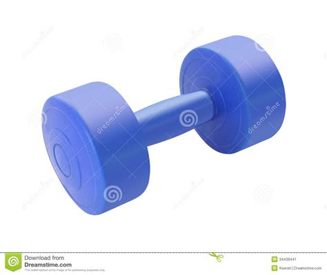 Dumbell Plastic Single Blue Plastic Dumbbell Stock Image Image 34439441