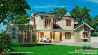 beautiful house design inside and outside home design beautiful sloped roof residence kerala home