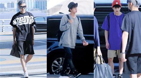 Celana Jin Bts Melorot berangkat ke jakarta member bts til kasual dan santai kabar berita artikel gossip