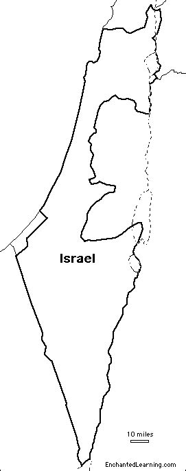 coloring page map of israel outline map israel enchantedlearning com