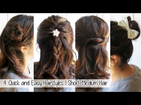4 quick & easy hairstyles for short medium long hair l