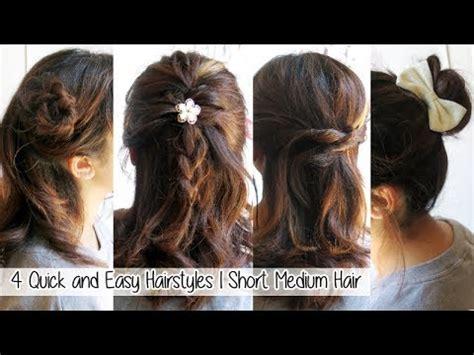 quick easy hairstyles  short medium long hair