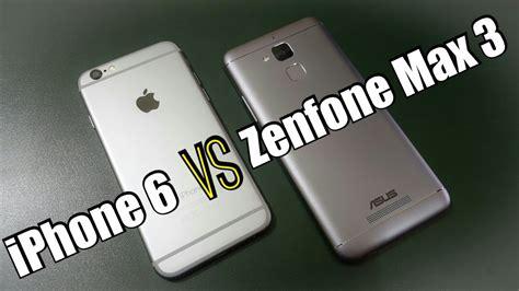 iphone 6 vs asus zenfone 3 max comparison