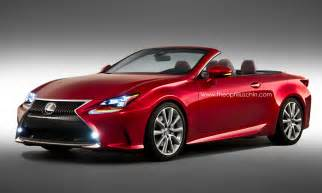 new lexus rc rendered as convertible autoevolution