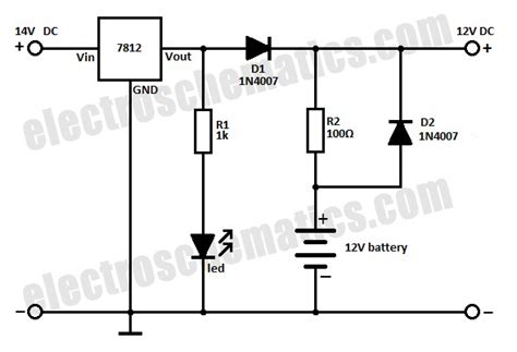 rechargeable battery circuit diagram battery backup circuit