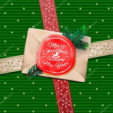 christmas greeting card merry christmas gift box stock