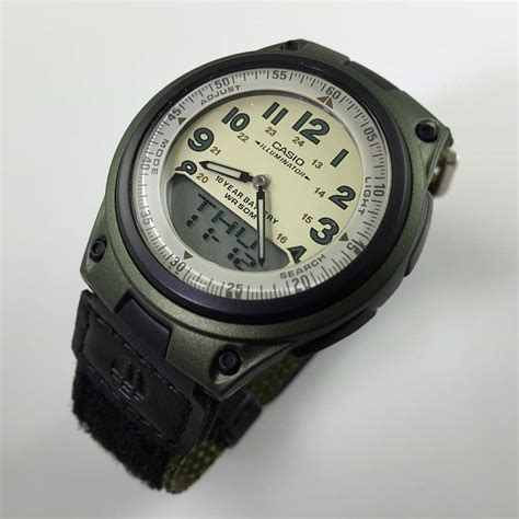 s green casio digital analog sport aw80v 3bv