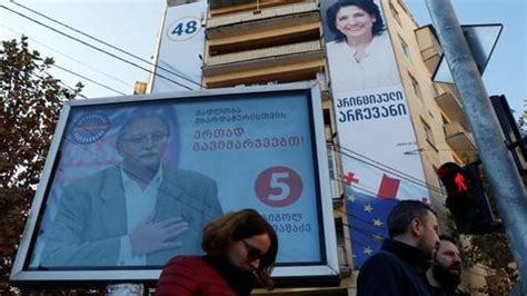 ruling party candidate leads in georgia presidential vote