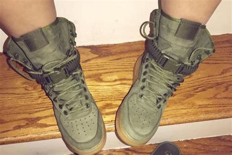 army green sneakers shoes nike high top sneakers army green wheretoget