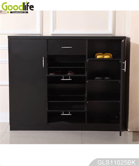 living room shoe storage wooden storage cabinet with shoe rack for living room gls11025