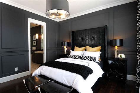 bold black and white bedrooms with bright pops of color - White Bedroom With Black Accents