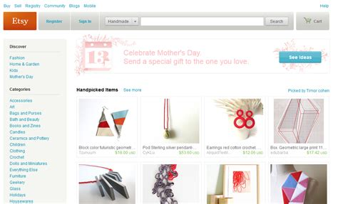 the 5 best marketplaces for selling handmade goods