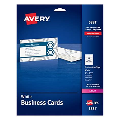 avery laser business card 5372 template same as avery color laser perforated white 2 quot x 3 1 2 quot business