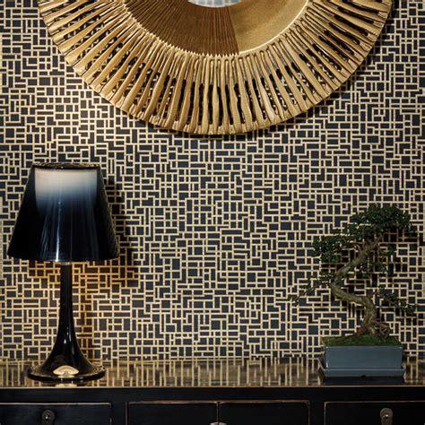 black gold wallpaper uk satoni geo black gold wallpaper arthouse eastern alchemy