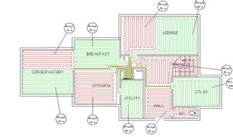 layout for underfloor heating cad design ufhn