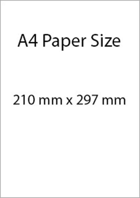 How To Make A4 Size Paper - a4 paper size paper sizes
