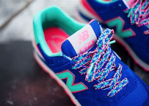 colorful new balances new balance 574 blue pink teal sneakernews