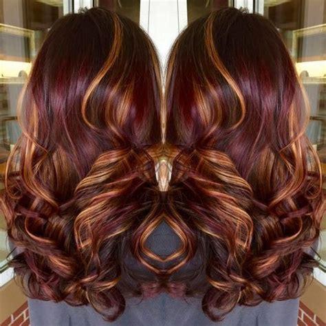 dark blond with mahogany lowlights olive skin pic балаяж на рыжие волосы фото окрашивания журнал