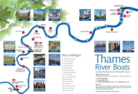 river thames attractions map route map