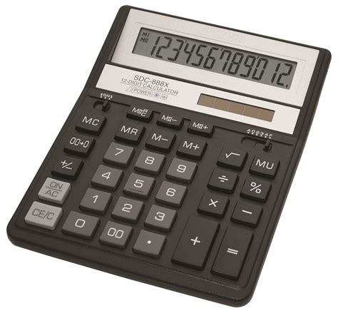 Kalkulator Citizen 12 Digit Calculator Berhitung Citizen Sdc 868l office calculator citizen sdc 888xbk 12 digit 203x158mm