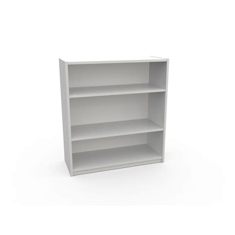 shop ameriwood 3 shelf bookcase white at lowes