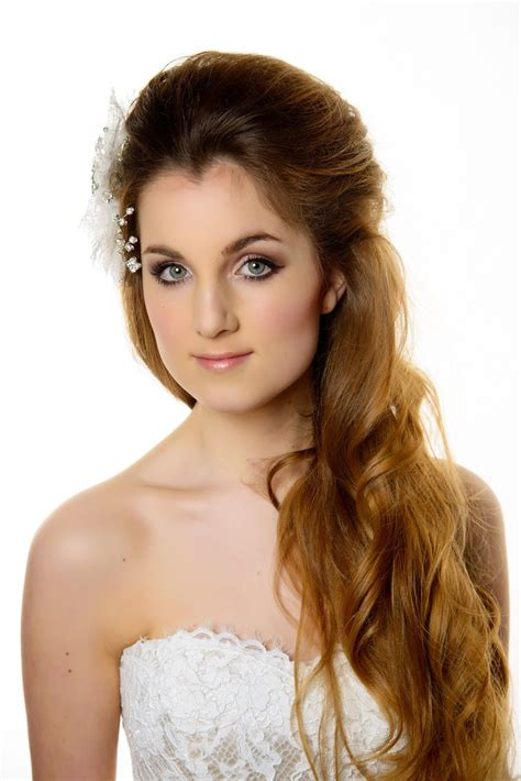 hairstyles for girl on gown wedding hairstyle to go with your wedding dress bride