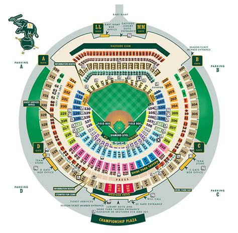oakland arena seating printable seating chart oakland athletics