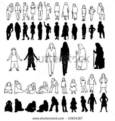 when to section someone silhouette set drawing people drawing sketching and