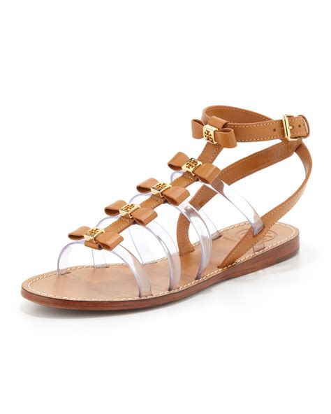 burch gladiator sandals burch gladiator bow sandal custom in brown