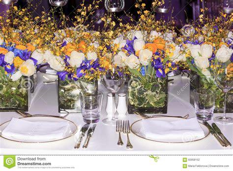 Wedding Table Setup by Wedding Set Up Stock Photo Image 65958152