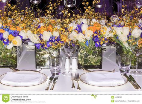 Wedding set up stock photo. Image of arrangement, blooming