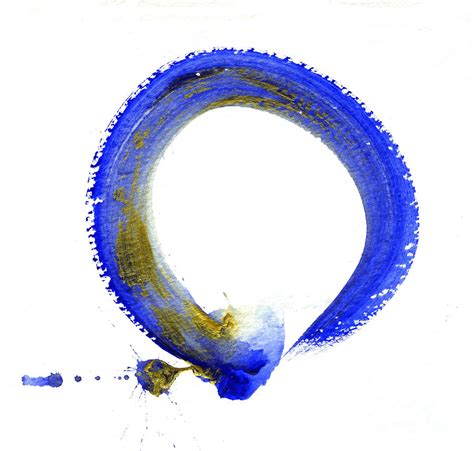 blue enso painting by ellen miffitt