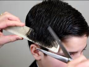 cutting hair how to cut men s hair with barber scissors