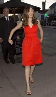 emmy rossum red dress emmy rossum in red dress at craigs 01 gotceleb