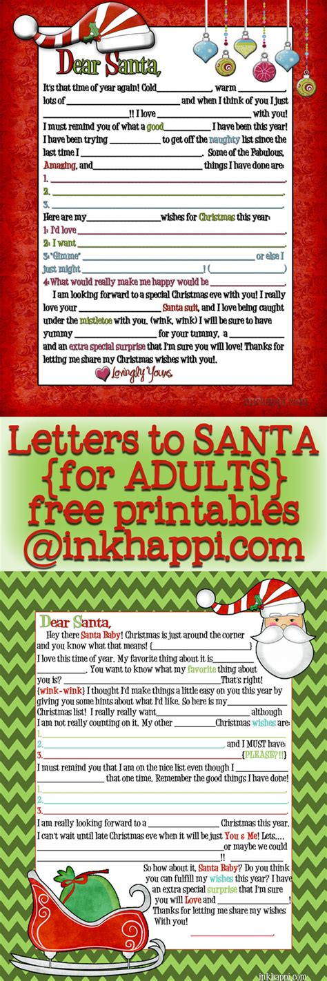 printable santa letters for adults adult santa letter wink wink 2014 version is here