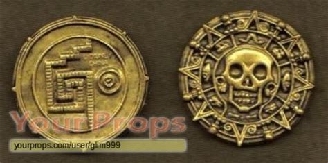 Aztec Replica Lucky Coin of the caribbean cursed aztec gold coin disney store replica prop