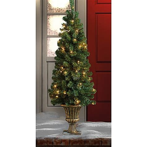 winter wonderland 4 foot pre lit tree w urn bed bath