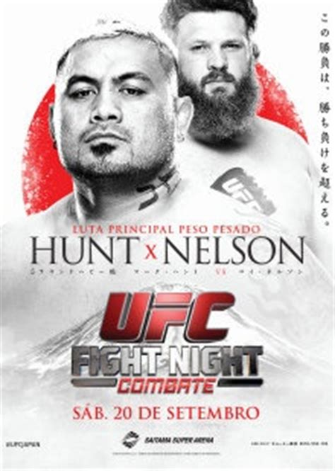 Myles Nelson Also Search For Ufc Fight Hunt Vs Nelson Card