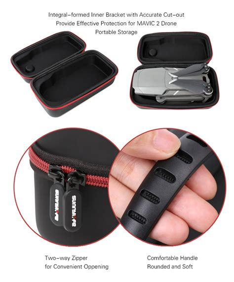 sunnylife mini carrying case dji mavic  pro zoom remote