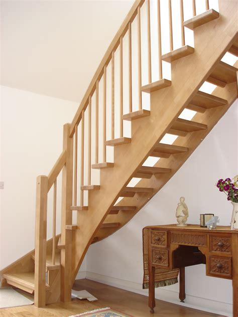 Stair Cases | open timber staircase southton northtimber stair systems